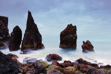grindavik: Rocky coast near Reykjanes, Iceland Stock Photo