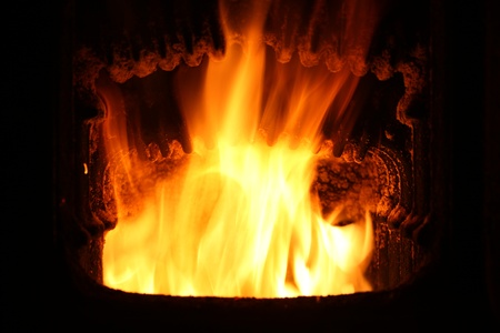Fire in furnace. Stock Photo - 21451182