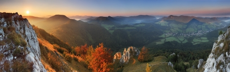 Fall in Slovakia mountain Fatras photo