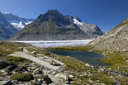 panoramatic: Aletsch glacier - Upper