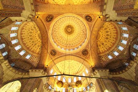 camii: Golden mosque - interior   Yeni Camii  , Turkey Editorial
