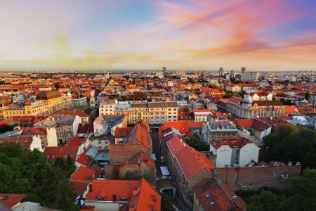Zagreb cityspace, Croatia photo