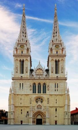 zagreb: Zagreb, cathedral in Croatia