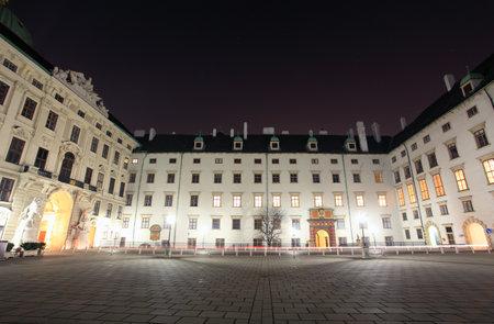 hofburg: Square in Hofburg, Vienna, Austria  Editorial