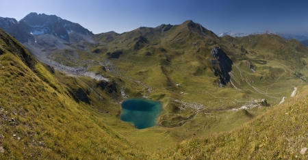 pizol: Idyllic alpine mountain