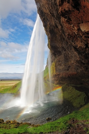 stream: Seljalandsfoss  Beautiful waterfall in Southern Iceland near Eyjafjallajokull glacier