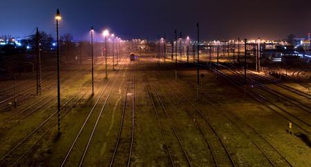 railtrack: Historic train station, at night