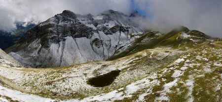 pizol: Lake (Schwarzsee) in Swiss Alps. Switzerland - Pizol - Bad Ragaz Tour Name: 5 Seen Wanderung