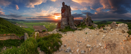 Haunted castle - ruins of Plavecky castle, Slovakia photo