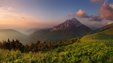 Roszutec peak in sunset - Slovakia mountain Fatra photo