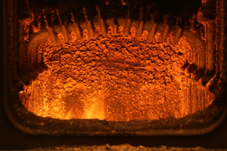 fuel chamber: Fire in furnace.