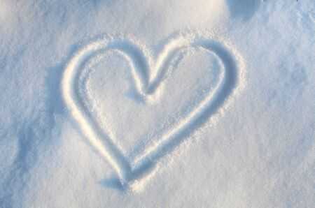 heart in snow photo