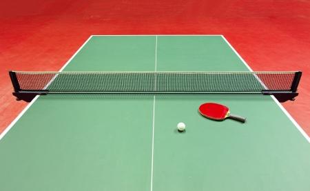 pingpong: Equipo de tenis de mesa - raqueta, pelota, mesa