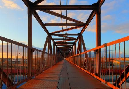 corrosion: Steel bridge for people