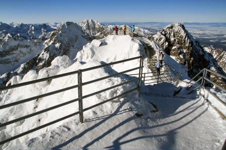 frost bound: High Tatras - Lomnicky peak  Stock Photo