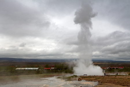 Famous Geyser eruption, Iceland photo