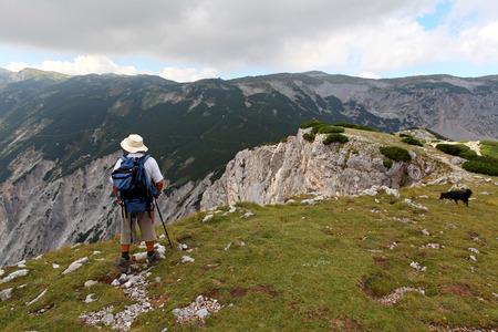 View at alpine mountain peaks - Raxalpe