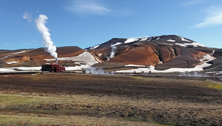 Geothermal power energy station - Iceland  Stock Photo