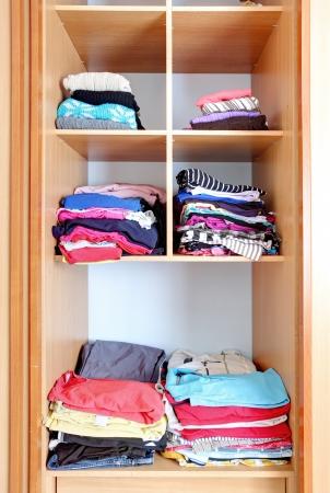 Closet - wardrobe, clothes Stock Photo