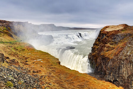 Gullfoss waterfall , Iceland photo