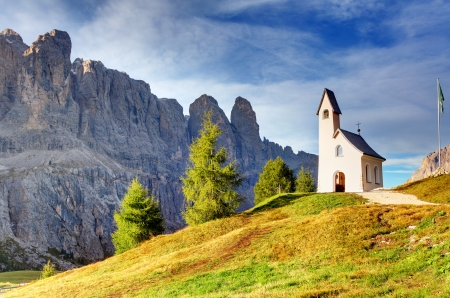 dolomites: Summer mountain landscape in Alps - italy dolomites Stock Photo