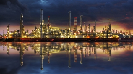 Petrochemical industry - Oil refinert and factory photo