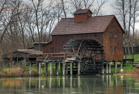 wheel house: Watermill Jelka in Slovakia at autumn time