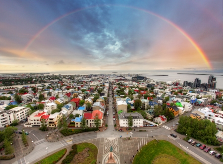 view from the above: Reykjavik cityspace, Iceland