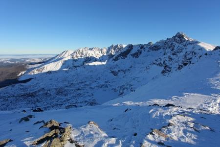 Mountain landscape in the winter  Tatras Kasprowy Wierch Zakopane Poland photo