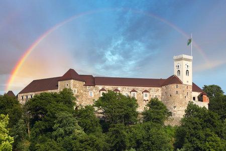 ljubljana: Ljubljana castle, slovenia, europe  Editorial