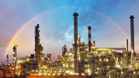 industria petroquimica: Fábrica de aceite de la refinería