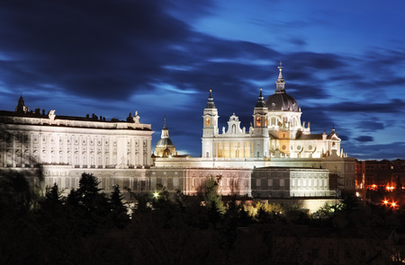 real madrid: Madrid,  Almudena Cathedral and Royal Palace, Spain
