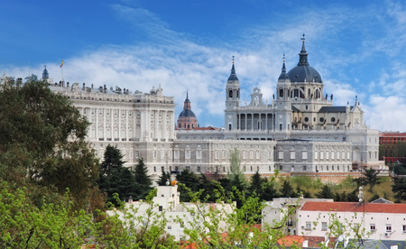 real madrid: Madrid,  Almudena Cathedral,  Spain