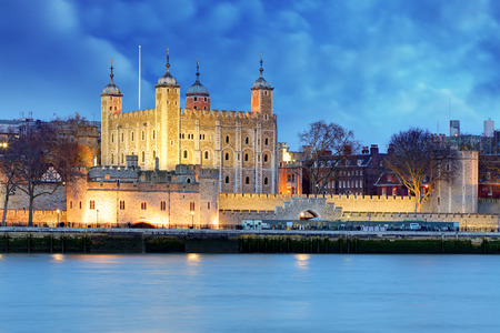 Tower of London at night, UK  photo