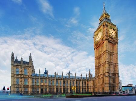 big ben: London - House of Parliament, Big Ben Stock Photo