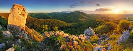 carpathian mountains: Mountain panorama