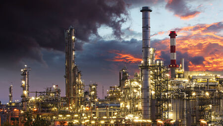 indutry: Oil indutry refinery - factory Stock Photo