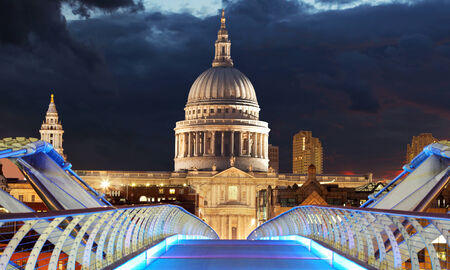 St pauls at night, London  photo