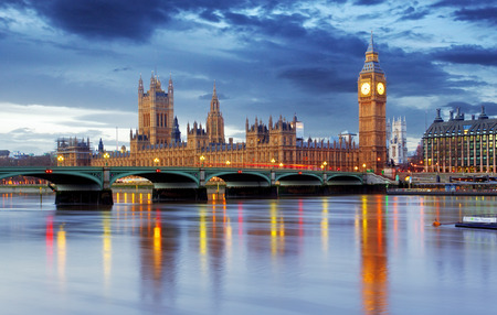 London - Big ben and houses of parliament, UK Stock Photo