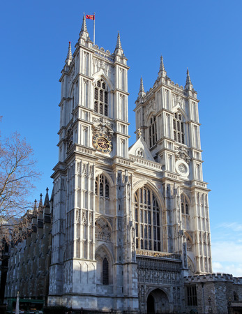 city of westminster: Westminster Abbey at day, London Stock Photo