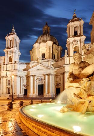 piazza: Rome, Fountain in Piazza Navona.