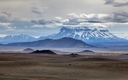crater highlands: Volcano herdubreid in Iceland