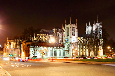 Westminster Abbey at night, London photo