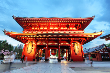 buddhist temple: Tokyo - Sensoji-ji, Temple in Asakusa, Japan Stock Photo