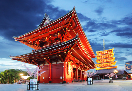 buddhist temple: Sensoji-ji Temple in Asakusa, Japan