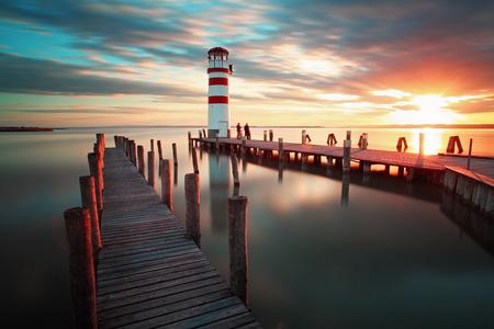 Ocean lighthouse photo