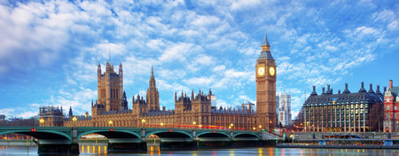 London - Big ben and houses of parliament, UK photo