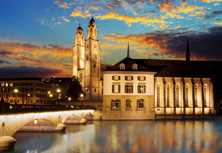 grossmunster cathedral: Grossmunster  The Great Cathedral  is the most representative landmark of Zurich city, Switzerland