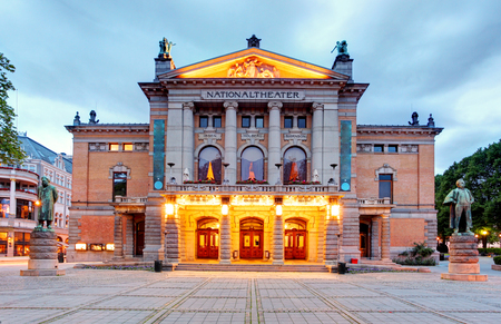 winter theater: National Theatre in Oslo - Nationaltheatret  Editorial