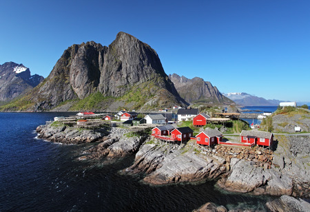 Norway village Reine photo